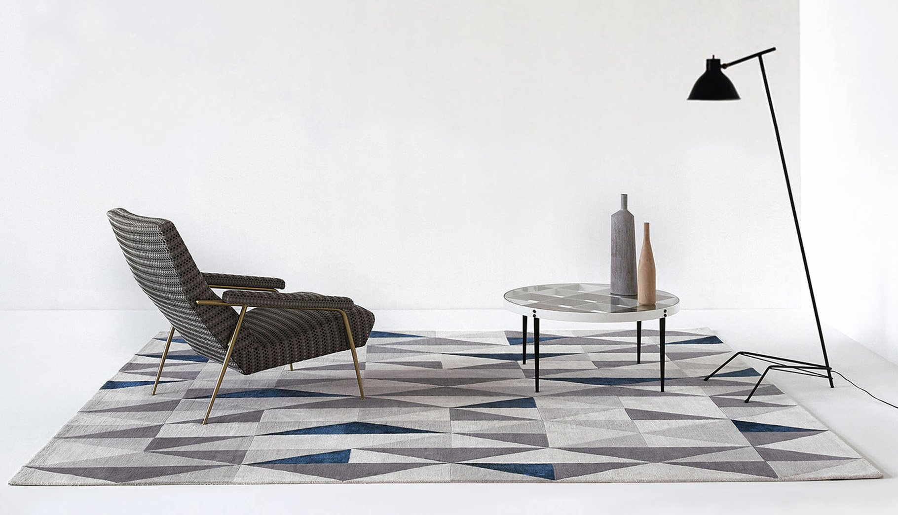 Diamantina Blue - Gio Ponti Carpet Collection- La Datina